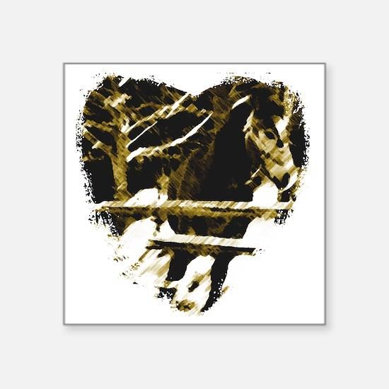 """Horse Love Square Sticker 3"""" x 3"""""""