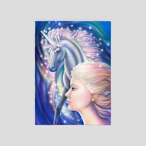 Unicorn Princess 5'x7'Area Rug