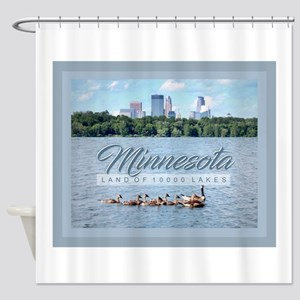 Minnesota 10,000 Lakes Shower Curtain