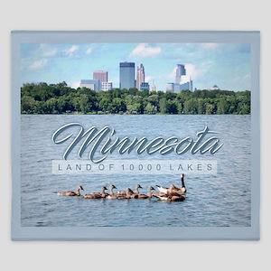 Minnesota 10,000 Lakes King Duvet
