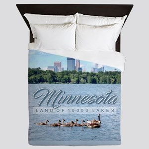 Minnesota 10,000 Lakes Queen Duvet