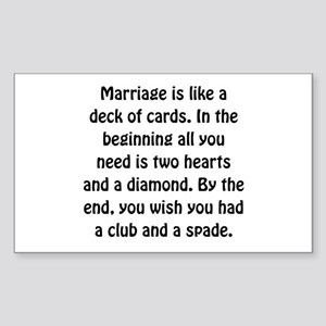 Marriage Card Sticker
