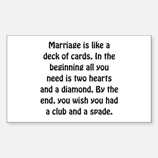 Marriage Card Decal
