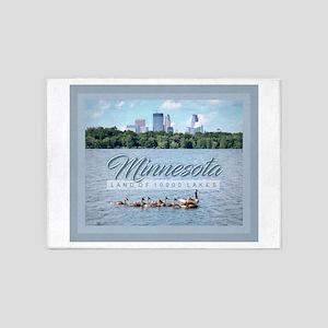 Minnesota 10,000 Lakes 5'x7'Area Rug