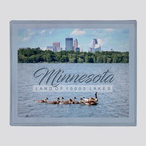 Minnesota 10,000 Lakes Throw Blanket