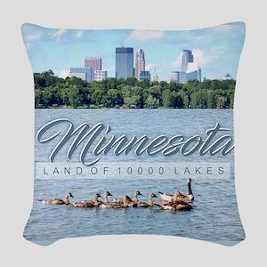 Minnesota 10,000 Lakes Woven Throw Pillow