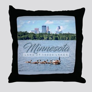Minnesota 10,000 Lakes Throw Pillow