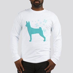 Basenji Snowflake Long Sleeve T-Shirt