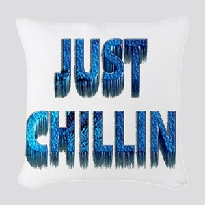 Just Chillin Woven Throw Pillow