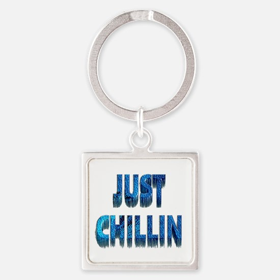 Just Chillin Square Keychain