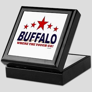 Buffalo Where The Tough Go Keepsake Box