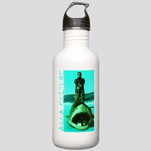 Aqua Culture on Beach  Stainless Water Bottle 1.0L