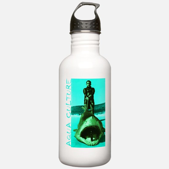 Aqua Culture on Beach  Water Bottle
