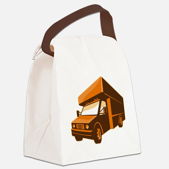 moving truck delivery van retro Canvas Lunch Bag