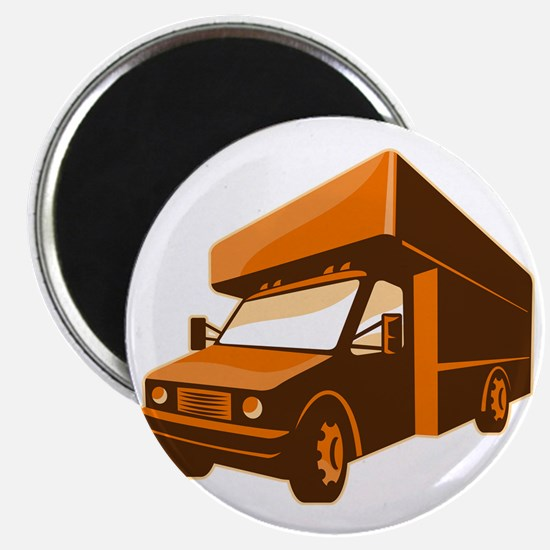 moving truck delivery van retro Magnet