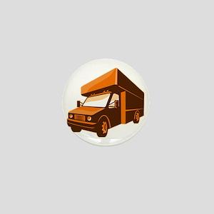 moving truck delivery van retro Mini Button