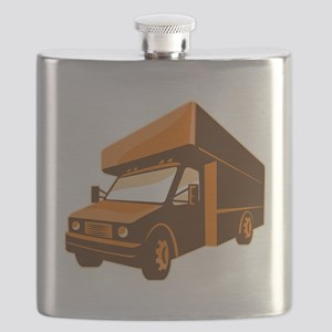 moving truck delivery van retro Flask