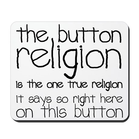 button religion Mousepad