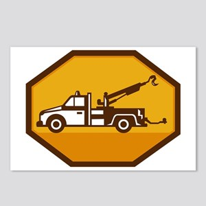 vintage tow wrecker truck Postcards (Package of 8)