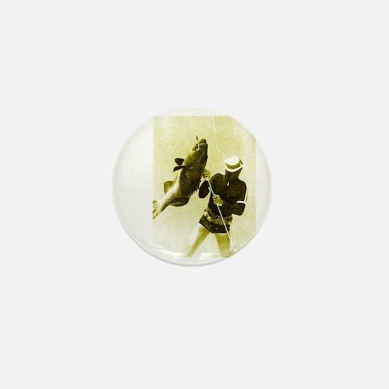 Aqua Culture Spearing Grouper Mini Button