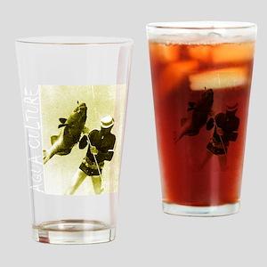 Aqua Culture Spearing Grouper Drinking Glass