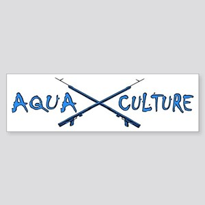 AQUA CULTURE SPEARGUNS aqua blue Sticker (Bumper)