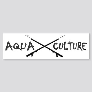 AQUA CULTURE SPEARGUNS GREY and B Sticker (Bumper)
