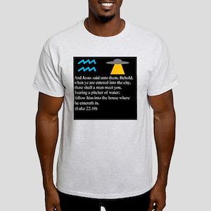 Luke 22:10 Aquarius Light T-Shirt