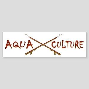 AQUA CULTURE SPEARGUNS brown yell Sticker (Bumper)