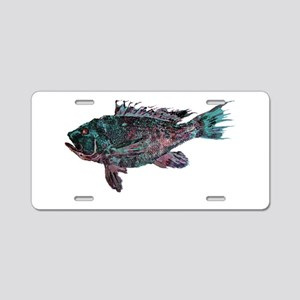 Black Sea Bass Aluminum License Plate