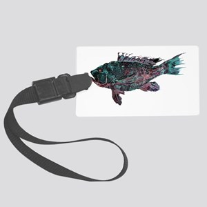 Black Sea Bass Large Luggage Tag