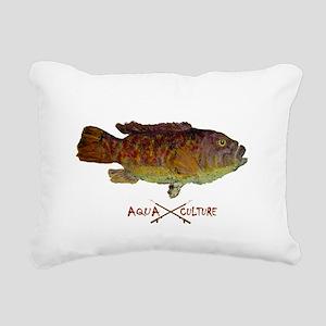 Tautog Gyotaku Rectangular Canvas Pillow