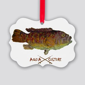 Tautog Gyotaku Picture Ornament