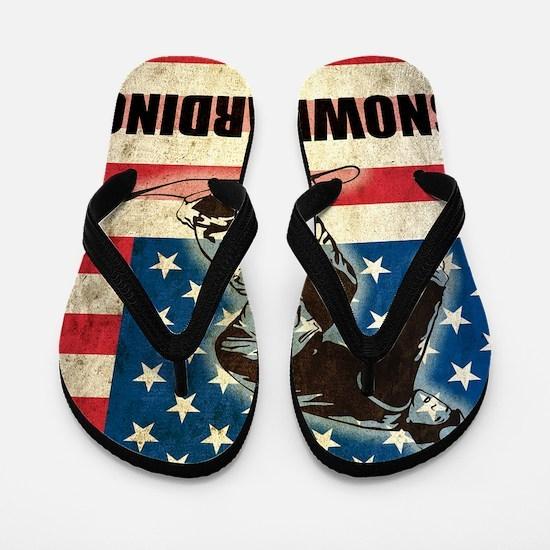 Grunge Snowboarding Flip Flops