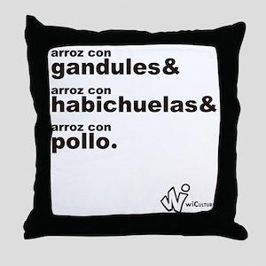 Arroz con... Throw Pillow