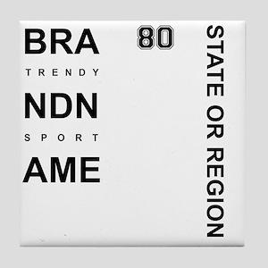Brand Name - Too big for one line Tile Coaster