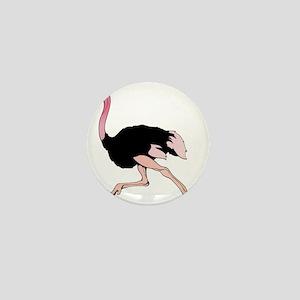 Galloping Ostrich Mini Button