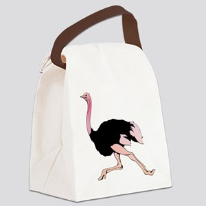 Galloping Ostrich Canvas Lunch Bag