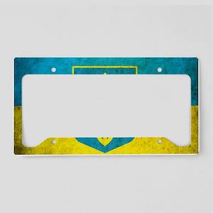 Ukraine Grunge Flag License Plate Holder