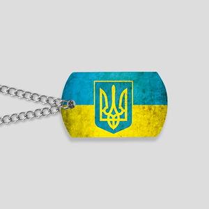 Ukraine Grunge Flag Dog Tags
