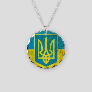 Vintage Ukraine Necklace Circle Charm