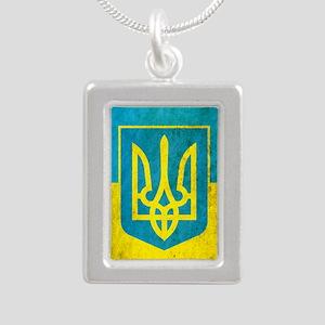 Vintage Ukraine Silver Portrait Necklace