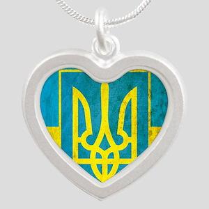 Vintage Ukraine Silver Heart Necklace