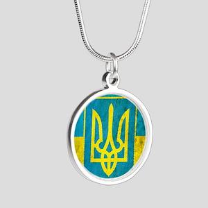 Vintage Ukraine Silver Round Necklace