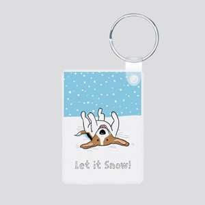 beaglesnowcard Aluminum Photo Keychain