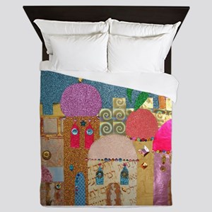 Holy Land Happy Christmas Queen Duvet