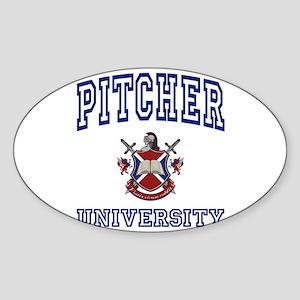 PITCHER University Oval Sticker