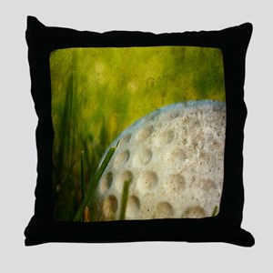 Vintage Golf Ball Throw Pillow