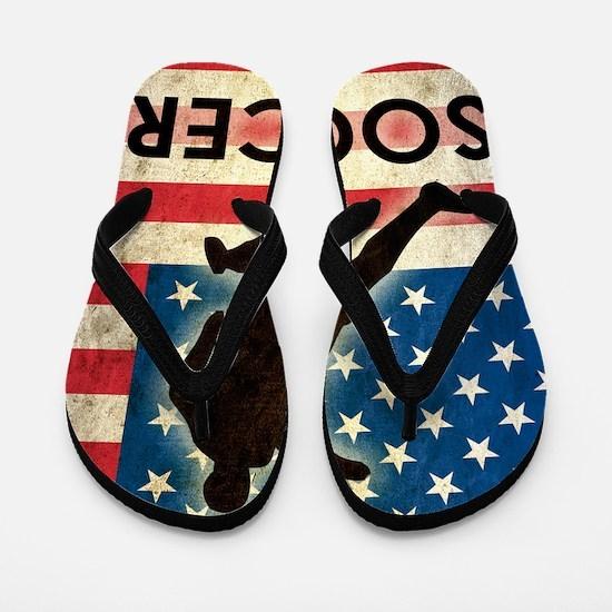 Grunge USA Soccer Flip Flops