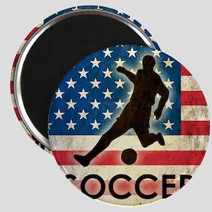 Grunge USA Soccer Magnet